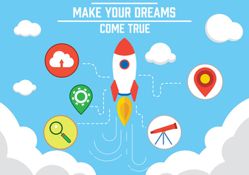 Free Dreams Come True Vector - Kostenloses vector #350741