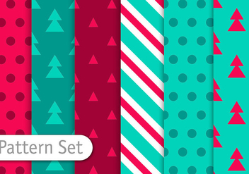 Christmas Decorative Patterns - Free vector #350851