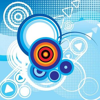 Circles Halftones Abstract Blue Background - Free vector #351031