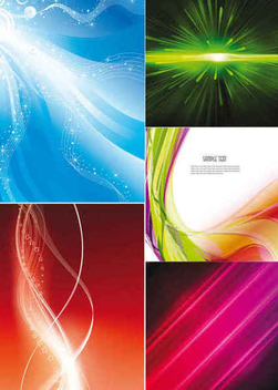 Dynamic Waves Glowing Background Set - vector gratuit(e) #351121