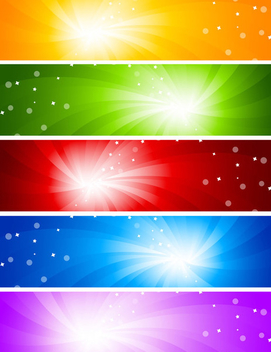 Abstract Sunlight Glare Banners - vector gratuit #351471