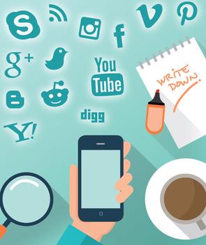 Smartphone social design - Free vector #351511