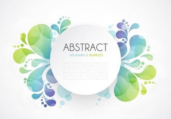 Splash Swirls Circle Banner - vector gratuit #351521