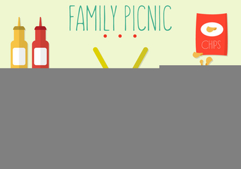 Vector Set of Family Picnic - vector gratuit #351741