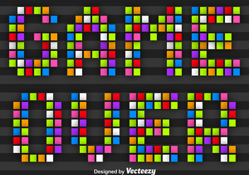 Colorful Pixel Game Over Message Vector - бесплатный vector #351801