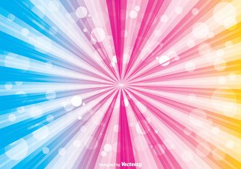 Colorful Sunburst Vector Background - Free vector #351841