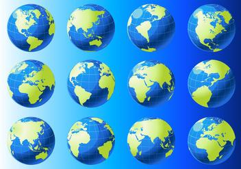 Globe Grid Vectors - vector #352021 gratis