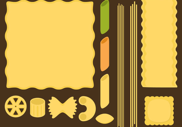 Pasta Type Vectors - бесплатный vector #352061