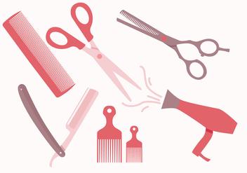 Barber Tools Vectors - Kostenloses vector #352081