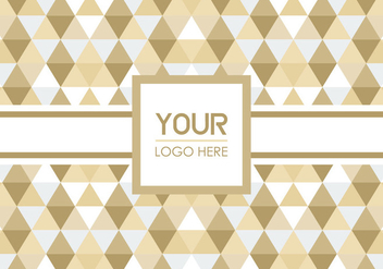 Free Triangle Geometric Logo Background - Free vector #352111