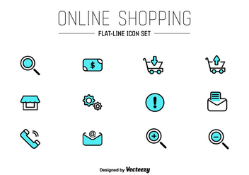 Online Shop UI Vector Icons - Free vector #352201