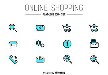 Online Shop UI Vector Icons - Kostenloses vector #352201