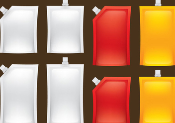 Liquid Food Packs - vector #352251 gratis