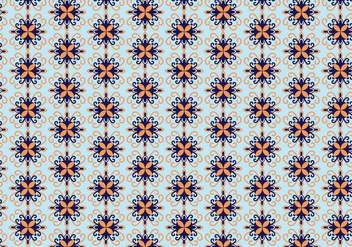 Mosaic Floral Pattern Vector - Free vector #352331