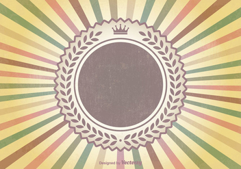 Colorful Retro Sunburst Vector Background - Free vector #352461