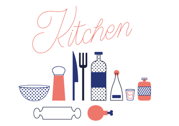 Free Kitchen Vector - Kostenloses vector #352521