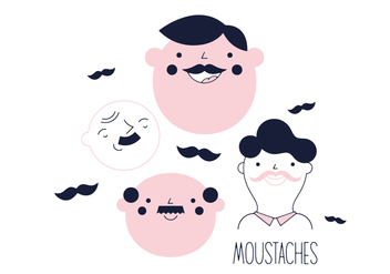Free Moustaches Vector - бесплатный vector #352531