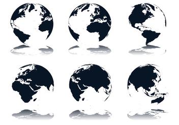 Globe Icon Vectors - Kostenloses vector #352561
