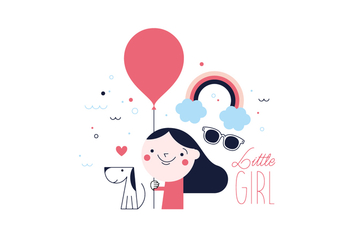 Free Little Girl Vector - Kostenloses vector #352621