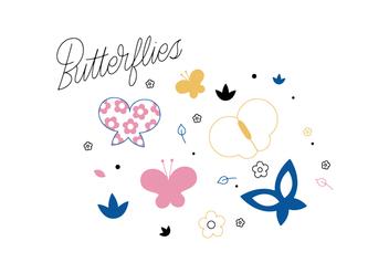 Free Butterflies Vector - Free vector #352681