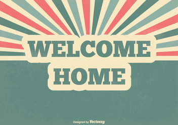 Retro Welcome Home Vector Illustration - Free vector #352831