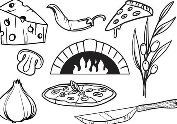 Free Pizza Vectors - vector #353011 gratis