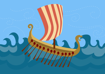 Viking Ship Free Vector - vector gratuit #353021