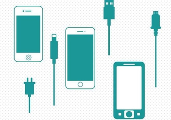 Free Smart Phone Charger Vector - vector gratuit #353031
