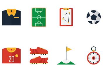 Football Kit Icon Vectors - Free vector #353051