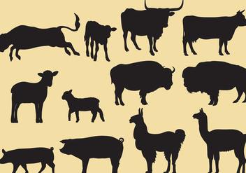 Cattle Silhouette Vectors - vector #353121 gratis