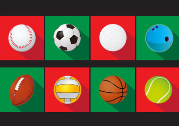Set of Sports Ball Vector Icons - Kostenloses vector #353151