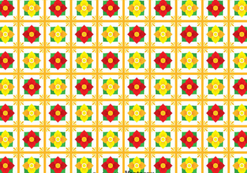 Flower Talavera Seamless Pattern - Free vector #353291