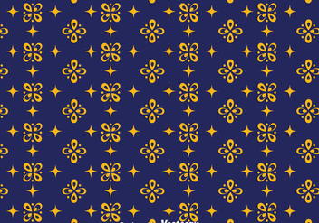 Dark Blue Batik Background Vector - Free vector #353421