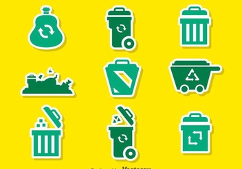 Garbage Green Icons - vector gratuit #353491