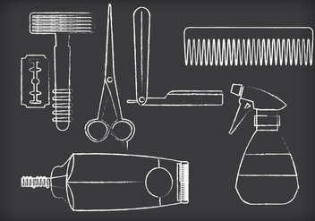 Barber Tools Vectors - Free vector #353631
