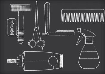 Barber Tools Vectors - Kostenloses vector #353631