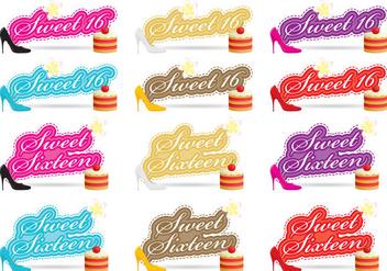 Sweet Sixteen Vectors - Free vector #353641