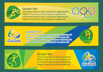 Brasil Olympic Banner Vectors - Free vector #353711