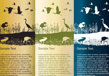 Storks and Herons Silhouette Background Vectors - Free vector #353921
