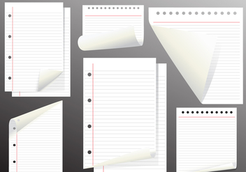 Note Paper Vector Page Flips - Free vector #353951