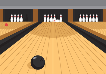 Vector Bowling Alley - vector gratuit #353961