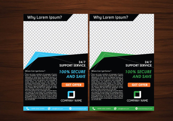 Vector Flyer Design Layout Template Vector - vector #353991 gratis