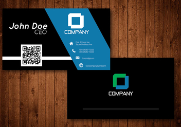 Black and Blue Creative Business Card Vector - vector gratuit(e) #354161