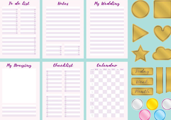 Wedding Organizer Vectors - Free vector #354281