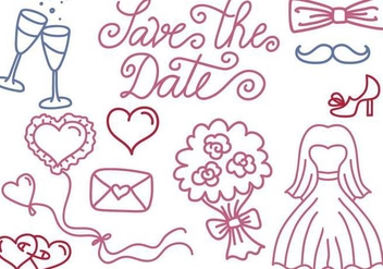 Free Wedding and Save the Date Vectors - бесплатный vector #354291
