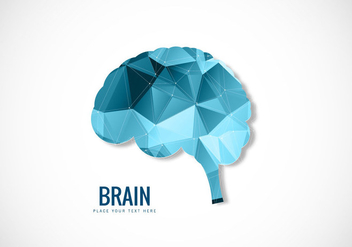 Human Brain Polygonal Style - Free vector #354391