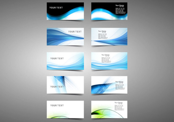 Set Of Visiting Business Cards - Kostenloses vector #354781