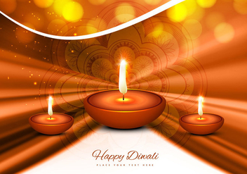 Stylish Greeting Card For Diwali Festival - vector gratuit(e) #354841