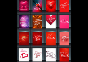 Collection Of Cards For Mother's Day - бесплатный vector #355091