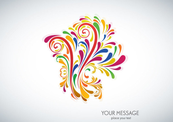 Colorful Floral Design - vector gratuit #355141